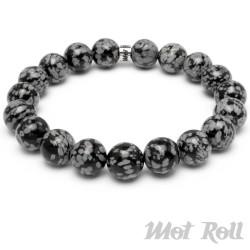 Mot Roll Bead Perlen Armband Herren Männer schwarz Jaspis Edelstein Menbeads