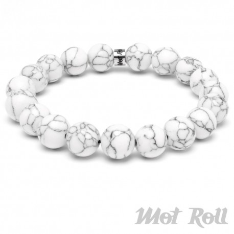 Mot Roll Bead Perlen Armband Herren Männer weiß edelstein Menbeads