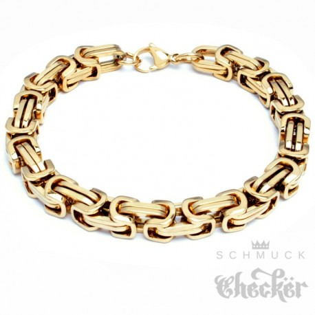 Edelstahl Herren Männer Byzantiner Armband Königskette Königsarmband gold