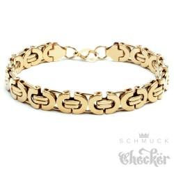 Edelstahl Männer Armband gold Königskette Armkette hochwertig Hiphop Biker