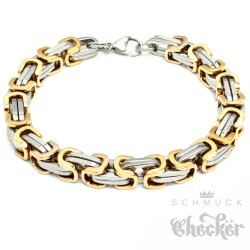Edelstahl Herren Männer Byzantiner Armband Königskette Königsarmband silber gold