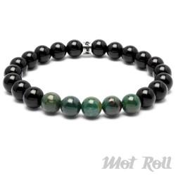 Mot Roll Perlen Armband schwarz grün Galaxy Collection Edelstein Herren Menbeads