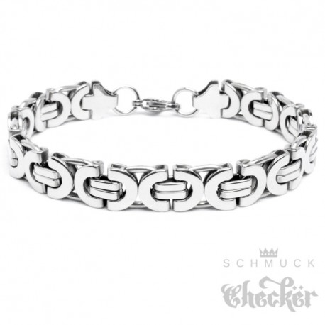 7d99c6a2c577 Edelstahl Männer Armband silber Königskette Armkette hochwertig Hiphop Biker