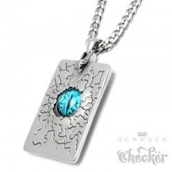 Evil Eye Anhänger aus Edelstahl böses Auge Sonne Mond Sterne Amulett + Halskette