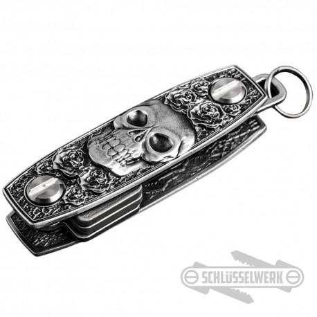 Schlüssel-Organizer Totenkopf mit Rosen Schlüssel-Anhänger Original Schlüsselwerk