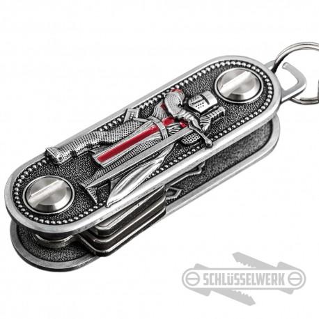 Schlüssel-Organizer Kreuzritter mit Schwert Templer Schlüssel-Anhänger Männer Geschenk