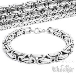 Edelstahl Herren Armband Königskette Königsarmband silber dünn dick Hiphop Biker