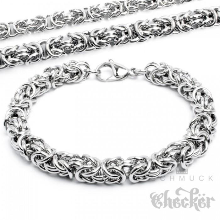 Edelstahl Armband Panzerkette Gravurplatte Armkette Silber schmales Herren Damen
